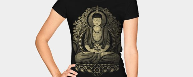 Gautama Buddha Weathered Halftone t-shirt design