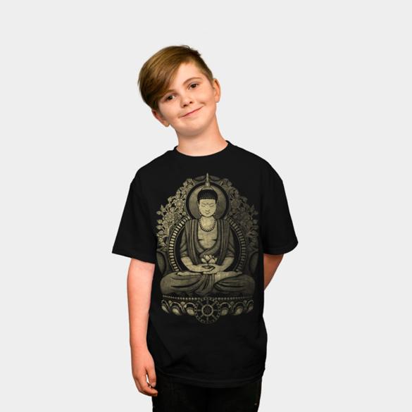 Gautama Buddha Weathered Halftone t-shirt design