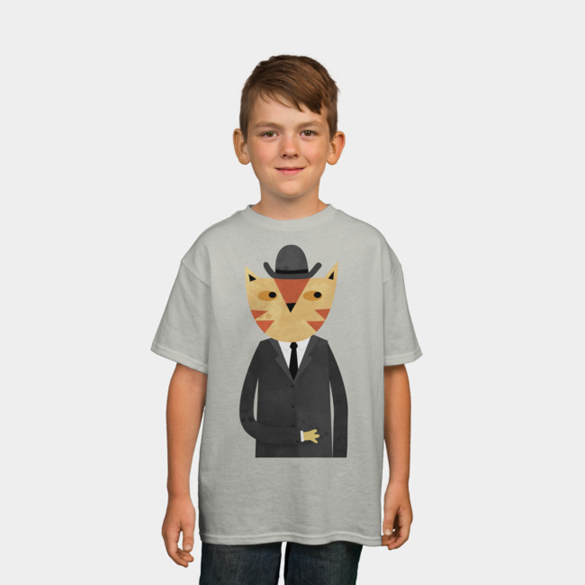 Ginger Cat in a Bowler Hat t-shirt design