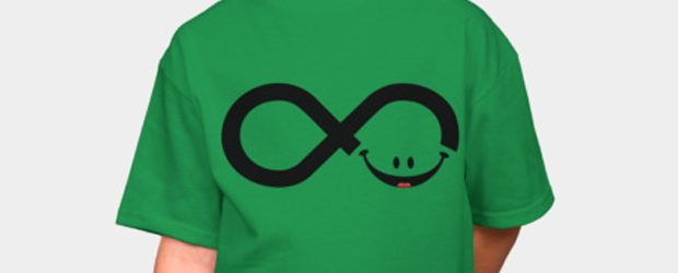 Infinity smile t-shirt design