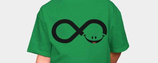 Infinity smile t-shirt design