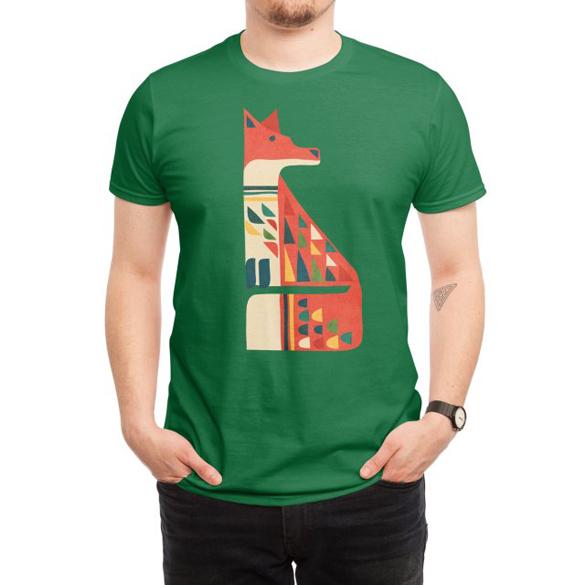 Mid-century fox t-shirt design