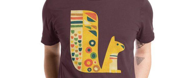 Mid-century squirrel t-shirt design