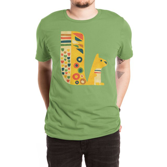 Mid-century squirrel t-shirt design