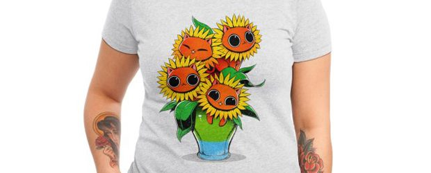 Sunflower Cat t-shirt design