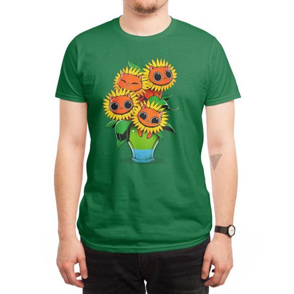 Sunflower Cat t-shirt design