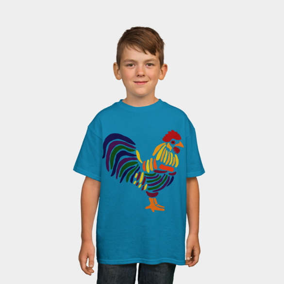Colorful Artistic Rooster t-shirt design