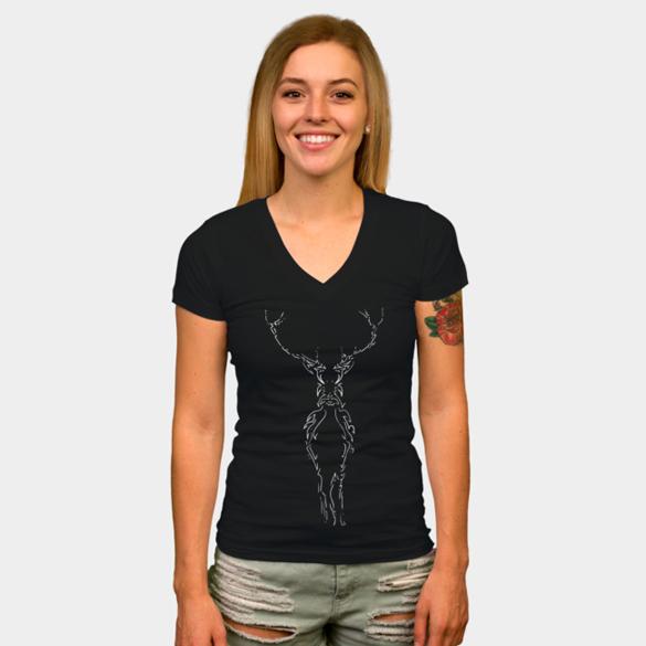 Deer t-shirt design