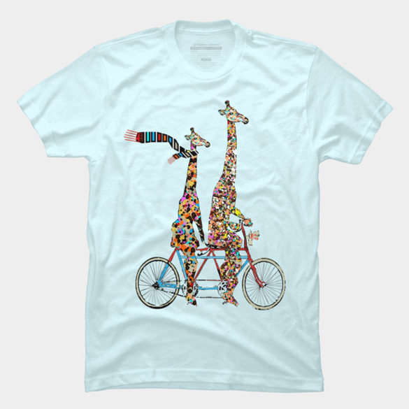 Giraffes days lets tandem t-shirt design