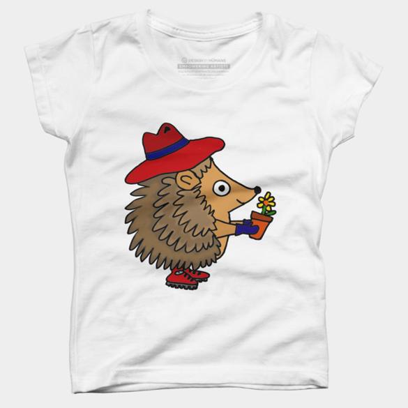 Adorable Hedgehog Gardener with Flower