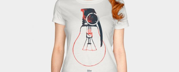 Idea is a powerful weapon t-shirt design