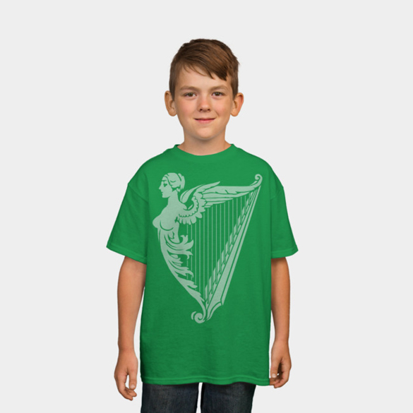 Irish Harp Heraldry t-shirt design