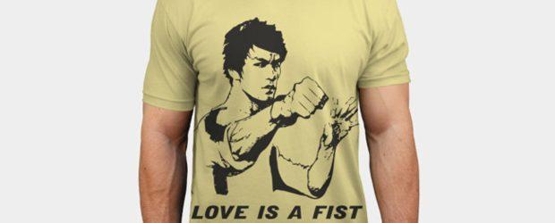Love is a fist t-shirt design