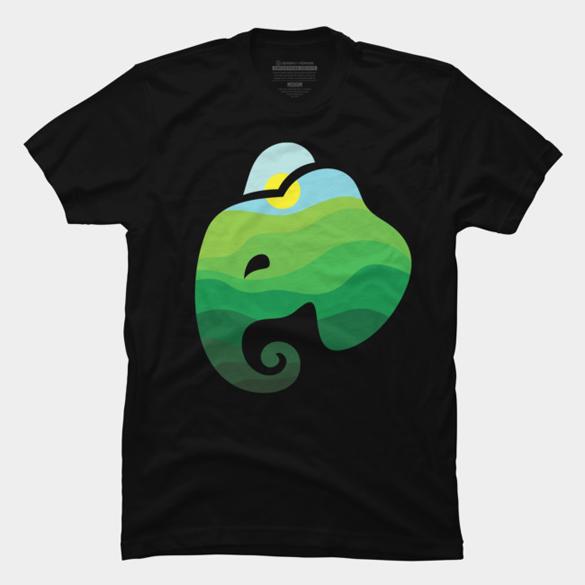 Nature Elephant t-shirt design