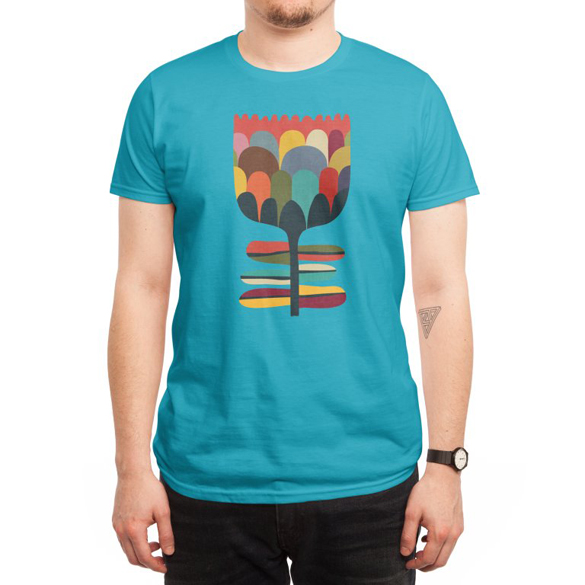 Rainbow in bloom t-shirt design