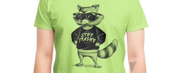Stay Trashy Raccoon t-shirt design