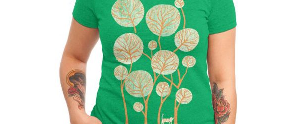 Tropical jungle with tiger t-shirt design