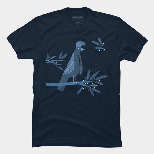 Umbrella Bird t-shirt design