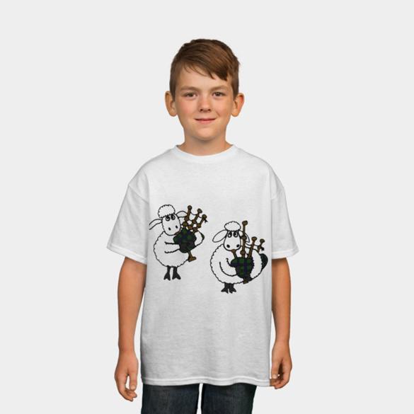 White Sheep Playing Bagpipes t-shirt design