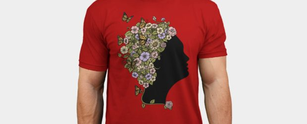 Floral Lady t-shirt design