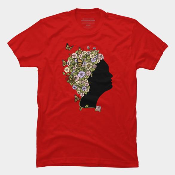 Floral Lady t-shirt design