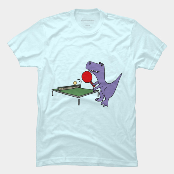Funny T-rex Dinosaur Playing Table Tennis t-shirt design