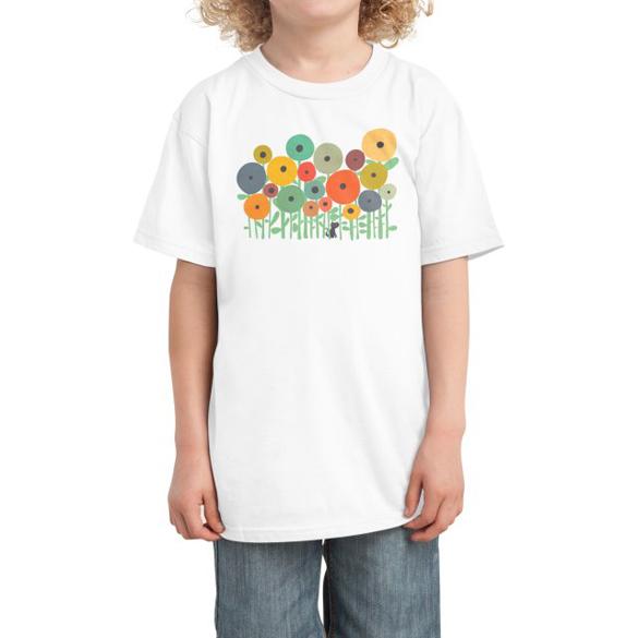 Garden with cat t-shirt design
