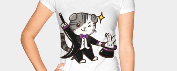 Magic cat t-shirt design