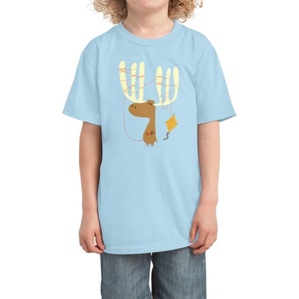 Moose vs kite t-shirt design