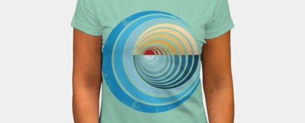Sunset waves t-shirt design