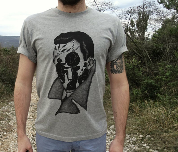 Albert Camus Mans T-shirt design