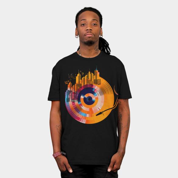 City of music t-shirt design