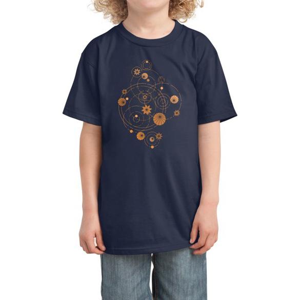 Geometric water lily t-shirt design