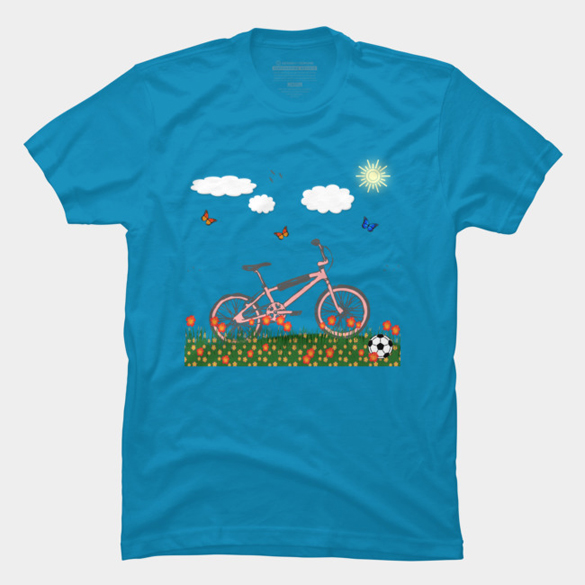 Pink bicycle t-shirt design