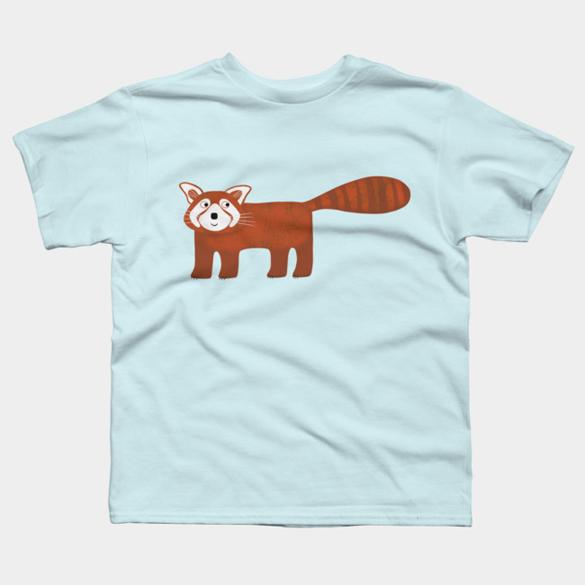 Red panda t-shirt design