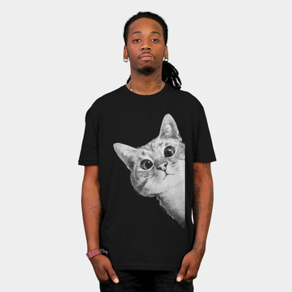 Sneaky cat t-shirt design