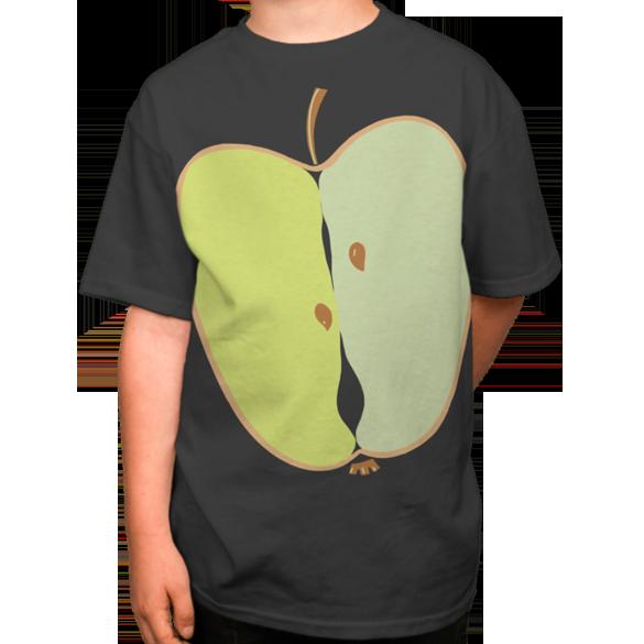 Apple decoration green t-shirt design
