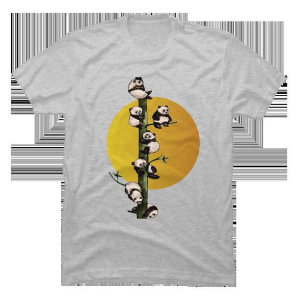 Baby pandas t-shirt design