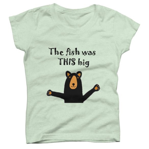 Black Bear Telling Fish Story t-shirt design