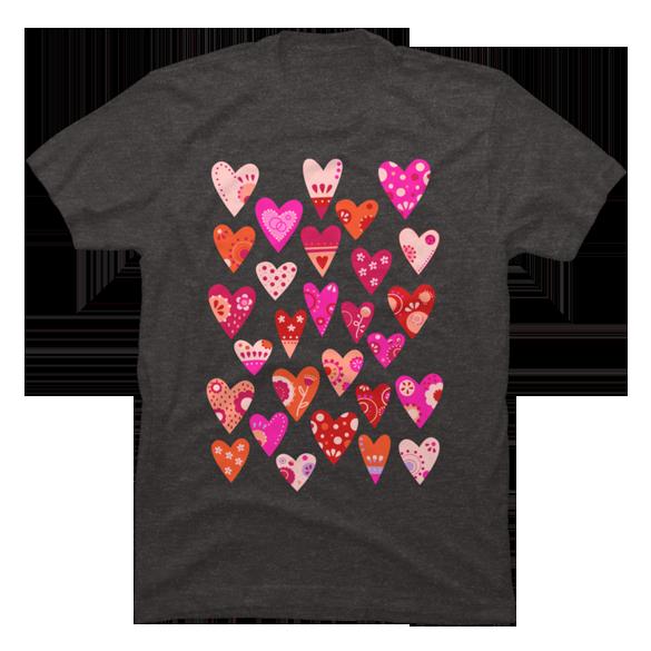 Hearts t-shirt design