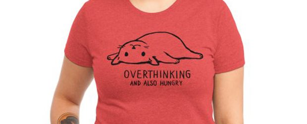 Overthinking and also Hungry t-shirt design