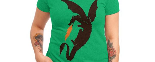 Dragon and horse t-shirt design