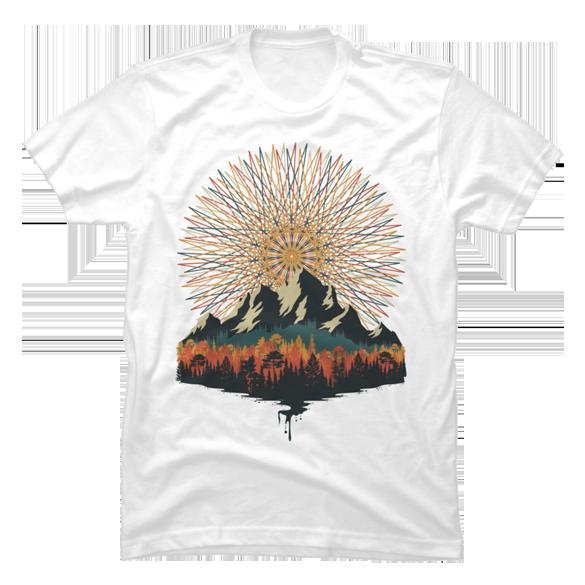 Everest geometry t-shirt design