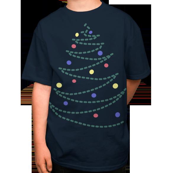 Christmas tree t-shirt design