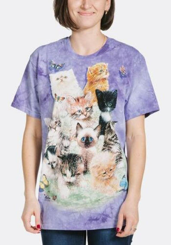 The Mountain Purple 10 Cats t-shirt design