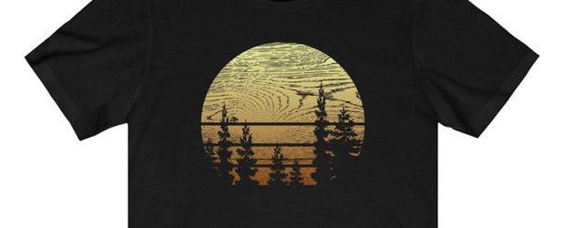Woodgrain Sunset t-shirt design