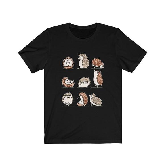 Cute Yoga Hedgehogs t-shirt design
