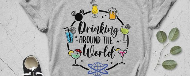 Drinking Around The World t-Shirt design