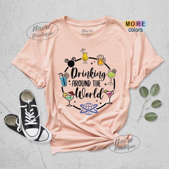 Drinking Around The World t-Shirt design
