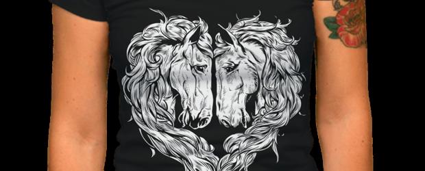 Love horse t-shirt design